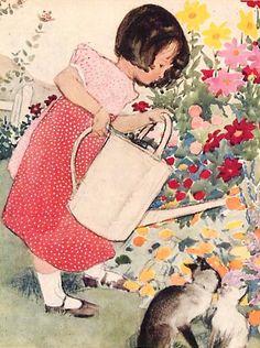 Gardening ~ Muriel Helen Dawson ~ (1897-1974)
