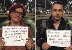 A cada hora, um LGBT sofre algum tipo de violência no Brasil. A cada 27 horas, um deles é morto. Esses números são assustadores, e crescem cada vez mais rapidamente. O excesso de violência contra estes grupos vem sempre acompanhado de muita falta de informação, aliada ao preconceito e a discriminação. Pensando nisso, a equipe do Buzzfeed Brasiliniciou uma campanha pelas ruas de São Paulo. A ideia era que as pessoas perguntassem aos homofóbicos coisas que elas sempre quiseram, mas nunca…