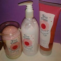 Fruit Frappe' Set Two fizzie bath bursts 3.5 oz Pump lotion 13.5 fl oz Shower gel 8 fl oz Other