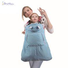 最高の赤ちゃん0から36ヶ月ベビーキャリアマント防風防水ユニバーサルベビーキャリアカバーソフト幼児毛布フード付きマント