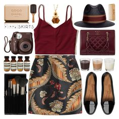 """""""The Perfect Summer Floral Skirt"""" by barbarela11 ❤ liked on Polyvore featuring Dsquared2, FitFlop, Hollister Co., Lanvin, Chanel, Topshop, Fujifilm, Aesop, Aveda and The Body Shop"""
