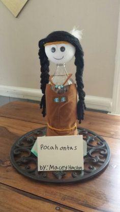 Bottle People Craft Pocahontas