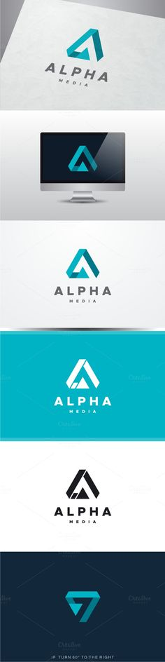 Alpha Media - Buchstabe A Logo - Design Logo Branding, Typography Logo, Branding Design, Lettering, Corporate Logo Design, Logo Inspiration, Logos Online, Graphisches Design, Design Color