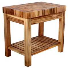 Boulder Creek Natural Butcher Block Island