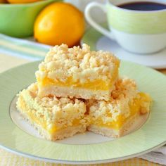 Lemon Coconut Crumble Bars - a 35 year old family recipe that combines coconut and tangy lemon filling in a buttery crumble bar cookie. Freezes quite well too making them an ideal choice for Christmas baking. Köstliche Desserts, Delicious Desserts, Dessert Recipes, Dinner Recipes, Popular Cookie Recipe, Cookie Recipes, Lemon Recipes, Sweet Recipes, Brownies