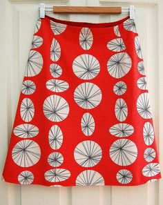 Lazy Seamstress:  Making an A line skirt