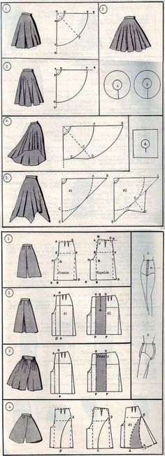 Terrific No Cost Sewing patterns clothes Thoughts 37 СПОСОБОВ СШИТЬ ЮБКУ Diy Clothing, Sewing Clothes, Sewing Pants, Skirt Sewing, Sewing Aprons, Sewing Dolls, Clothes Crafts, Barbie Clothes, Dress Sewing Patterns