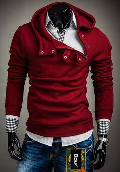 Bluza męska BOLF 06 bordowa