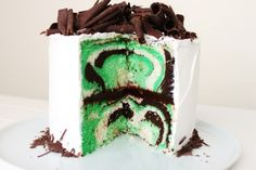 Mint Chocolate Layer Cake-St. Patrick's Day Cake