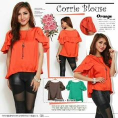 Blouse Corrie @55, bahan crepe, fit to L