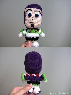 Lil' Buzz Lightyear by Rachel H of Little Yarn Friends Free Pattern: http://littleyarnfriends.tumblr.com/post/51469818834/crochet-pattern-lil-buzz-lightyear  #TheCrochetLounge #Amigurumi #Fairytale Pick