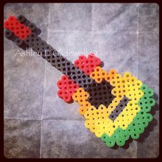 Rainbow guitar perler beads by ashleyeglidewell