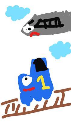 "yeage's drawing at Junimong. 09-13-2014 "" Play with Junimong! "" #kidsdrawing #junimong"