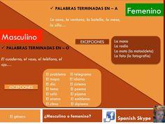 ¡Ten cuidado con las palabras femeninas en -o y palabras masculinas en -a!