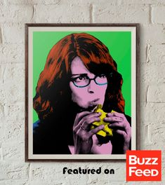 Liz Lemon 30 Rock Print Pop Art Portrait by PopShopPrintables