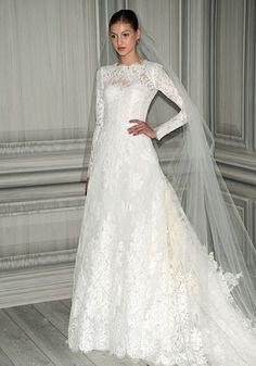 My big fat Catholic wedding - Monique Lhuillier Lace Sleeves wedding dress