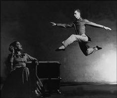 Martha Graham and dancer/choreographer Merce Cunningham, New York City, 1948. Photograph by Philipe Halsman