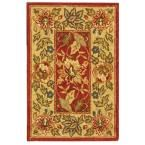 Chelsea Red/Ivory 1 ft. 8 in. x 2 ft. 6 in. Area Rug