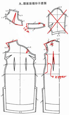 Qipao Pattern Drafting Instructions courtesy of Cation Designs