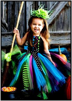 Wicked Witch Halloween Costume Tutu Dress and Witch Hat Order Now through September 30th