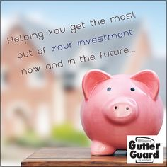 We aren't just in the business to help you save money now, our home improvement services are intended to help you get the most of your investment well into the future. #SaveMoney #BoostInvestment #UltimateGutterGuard