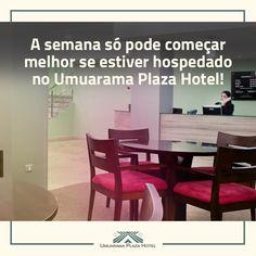 A semana só pode começar melhor se estiver hospedado no Umuarama Plaza Hotel! Tradição e Inovação no centro de Goiânia! Faça já sua reserva! #UmuaramaPlaza #VisiteGoiânia