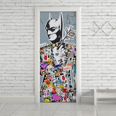 Adesivo de porta Batman - StickDecor   Decoração Criativa