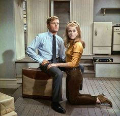 Robert Redford and Jane Fonda in Barefoot in the park (1967)