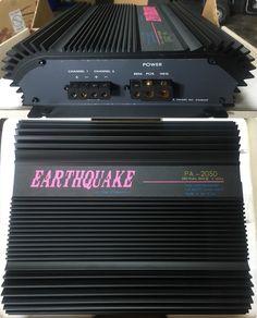 Earthquake PA-2050 2 Channel 280 watt Amplifier.  Made in USA