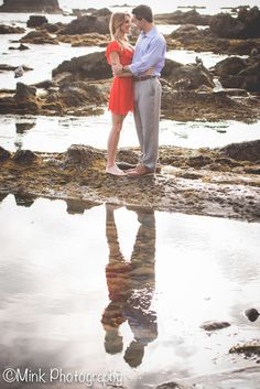 Romantic Beach Engagement Session at Heisler Park in Laguna Beach. Southern California Wedding and Engagement Photography.