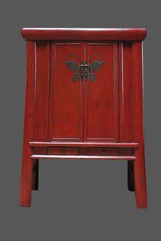 mobel asiatische hochzeitsschranke roter schmetterlingsschrank aus china chinese wedding cupboard in red with butterfly chinesisch kleiderschrank