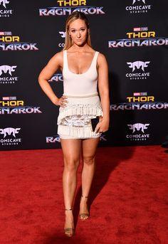 "Alisha Marie attends the premiere of Disney and Marvel's ""Thor: Ragnarok"" on October 10, 2017 in Los Angeles, California."