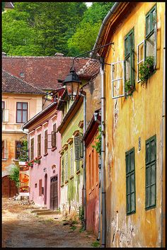 sighisoara Romania - I've walked this street many times. My home sweet home while living in Romania Beautiful Places To Visit, Beautiful World, Places To Travel, Places To See, Travel Destinations, Transylvania Romania, Visit Romania, Romania Travel, Bucharest Romania