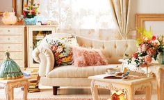 design, interior design, room, separate with comma Home Living Room, Living Spaces, Living Area, Small Room Design, Boho Home, White Sofas, Romantic Homes, Favim, Beautiful Space