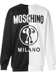 Moschino Double Question Mark Print Sweatshirt Black