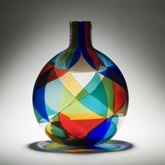 Ercole Barovier, Intarsia Vase, 1950s. by angelita