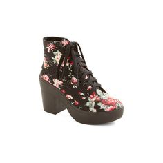 ModCloth Vintage Inspired Lyric Inspiration Bootie ($45) ❤ liked on Polyvore featuring shoes, boots, ankle booties, black, boot - bootie, bootie, heeled bootie, black lace up boots, black lace up booties and black lace up ankle booties