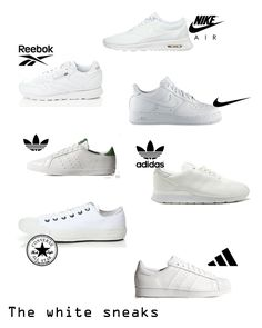 white sneakers collage Fashion Shoes, Women's Fashion, People Dress, Shoes Style, White Sneakers, Trainers, Fashion Inspiration, Collage, Sporty