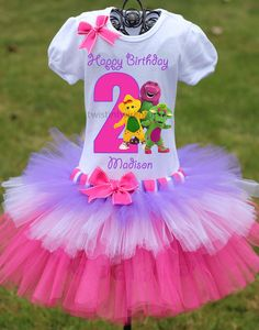Barney Birthday Outfit Barney BirthdayFirst by TwistinTwirlinTutus, $64.99