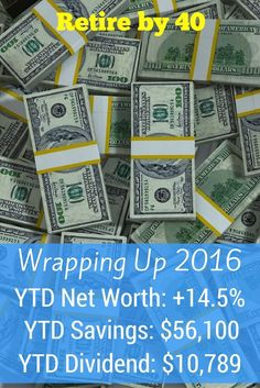 I'm wrapping up 2016 by going over my New Year goals and our annual cash flow. 2016 was a great year for us and I hope for you as well. via @retireby40