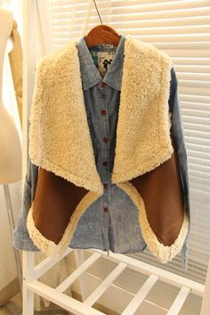purchasing with the autumn lamb plush velvet suede stitch collar waistcoat waistcoat jacket