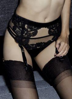 Belle de Nuit Suspender Belt #luxurylingerie #couture #bespoke #embroidery