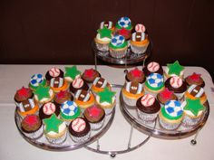 sports themed baby shower the design for the cupcakes was based on the babyu0027s crib