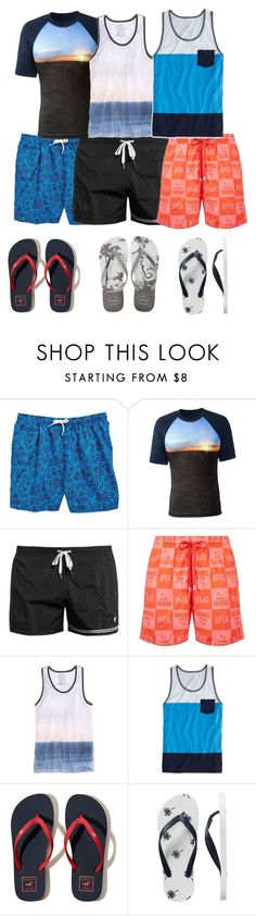 """""""Travel Swim-suit For Boys"""" by diylover1918 ❤ liked on Polyvore featuring Trunks, Lands' End, Dan Ward, Vilebrequin, American Eagle Outfitters, Hollister Co., Gap, Havaianas, men's fashion and menswear"""
