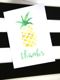 Summer Watercolor Note Card Printables! FREE cards you can print! -- Tatertots and Jello