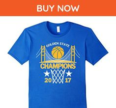 Mens Golden State Champions with Golden Gate Bridge 2017 T-Shirt Large Royal Blue - Cities countries flags shirts (*Amazon Partner-Link)