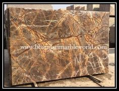 Bhandari marble company  Rain Forest Brown is gorgeous and, looks wonderfull after all finishing has been done, Marble can be use as wall cladding, bar top, fireplace surround, sinks base, light duty home floors, and tables.