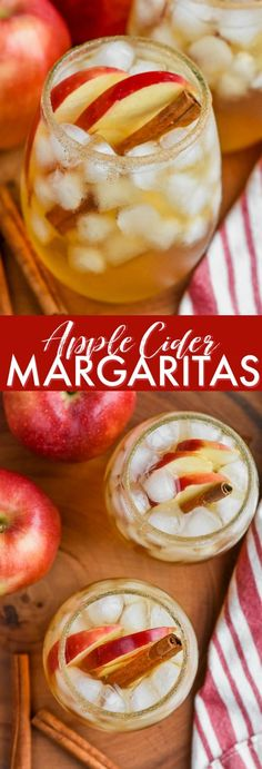 These Apple Cider Margaritas are super simple, but perfectly delicious for fall! They are the perfect cocktail to make for a fall party! I'm kind of obsessed with all things margarita and I love this hard cider and tequila apple margarita. Cider Cocktails, Fall Cocktails, Holiday Drinks, Cocktail Drinks, Cocktail Recipes, Fall Drinks Alcohol, Alcoholic Drinks For Fall, Christmas Drinks, Mixed Drinks