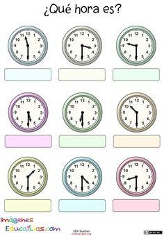 Printable worksheets for kids. Clock Worksheets, Alphabet Worksheets, Kindergarten Worksheets, Printable Worksheets, Number Worksheets, Printable Activities For Kids, Worksheets For Kids, Time Management Worksheet, Blank Clock