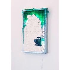 """Romain Vicari  """"Greenone"""" Plaster, resin 60 x 40 cm 2015"""